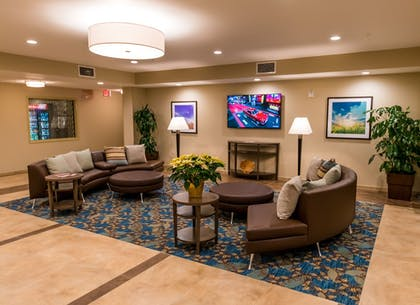 Lobby Sitting Area | Candlewood Suites Fairbanks