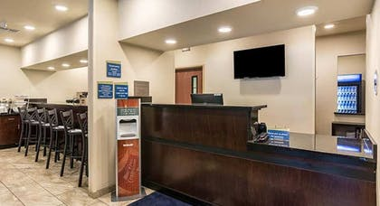 Check-in/Check-out Kiosk   Cobblestone Hotel & Suites - Erie