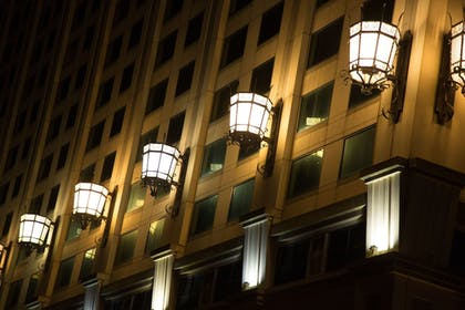 Hotel Front - Evening/Night | Showboat Hotel