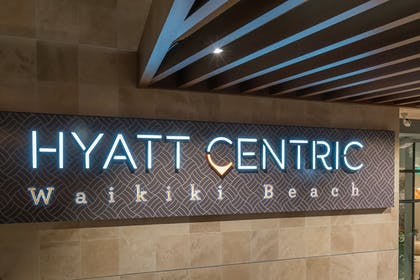 Hotel Entrance | Hyatt Centric Waikiki Beach