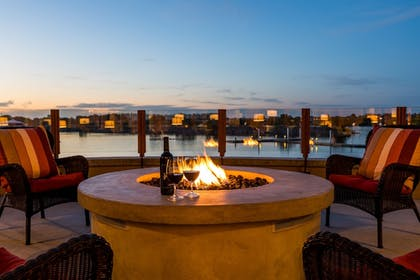 Terrace/Patio | The Lodge at Columbia Point