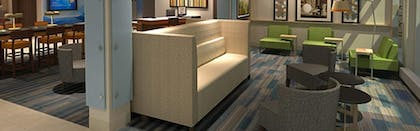 Lobby Sitting Area | Holiday Inn Express & Suites McAllen - Medical Center Area