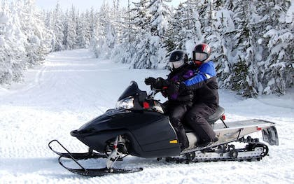 Snowmobiling   The Pointe Hotel and Suites