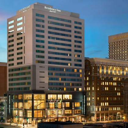 Hotel Front - Evening/Night | Residence Inn Phoenix Downtown