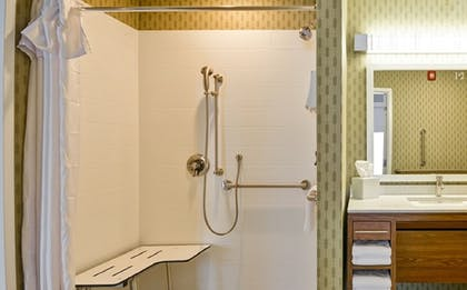 Bathroom Shower | Home2 Suites by Hilton Evansville