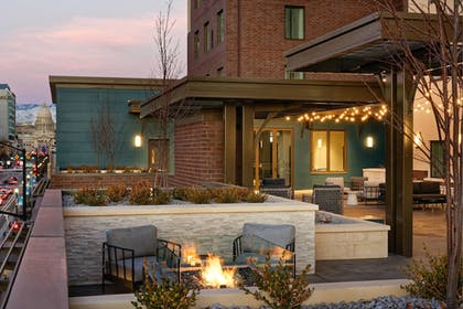 Hotel Front - Evening/Night | Residence Inn by Marriott Boise Downtown City Center