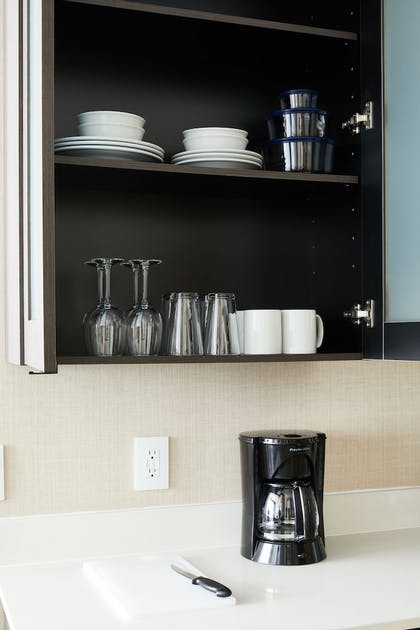 In-Room Kitchen | Residence Inn by Marriott Dallas Downtown