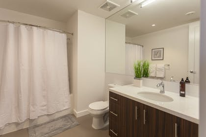 Bathroom | Downtown Lux Apartments by Barsala