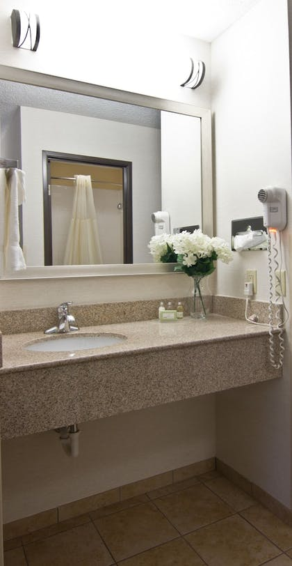 Bathroom | Christopher Inn and Suites