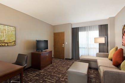| 1 King Bed Ballpark View Premium Suite | Embassy Suites by Hilton Dallas Frisco Convention Ctr & Spa