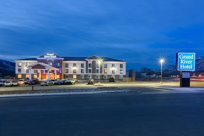 Hotel Front - Evening/Night | Grand River Hotel