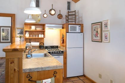 In-Room Kitchen | Homestead Cottages