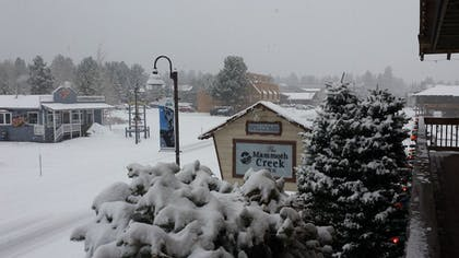 View from Hotel   The Mammoth Creek Inn