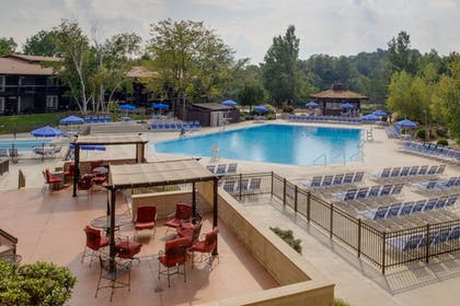 Terrace/Patio | Salt Fork Lodge and Conference Center