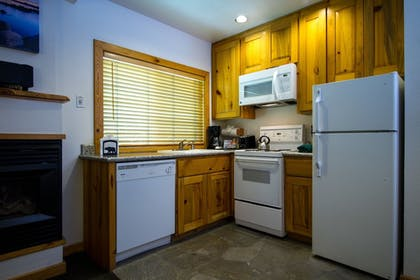 In-Room Kitchen | Red Wolf Lakeside Lodge