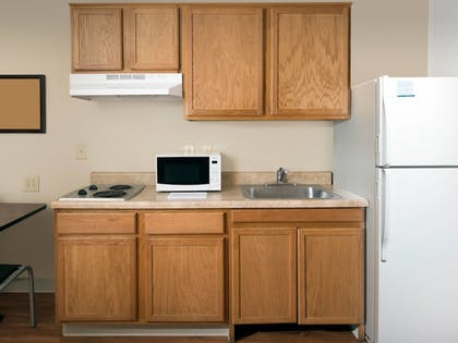 In-Room Kitchen   WoodSpring Suites Kansas City South