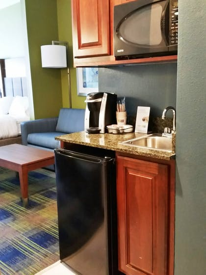 In-Room Kitchenette   Holiday Inn Express Suites Clifton Park