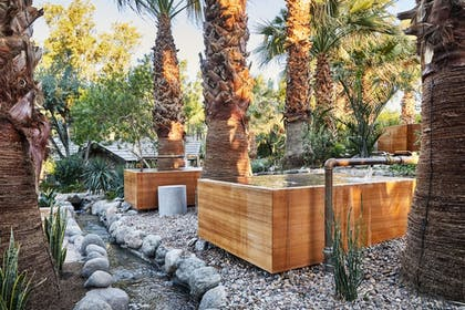 Outdoor Spa Tub | Two Bunch Palms Spa Resort - Adults Only