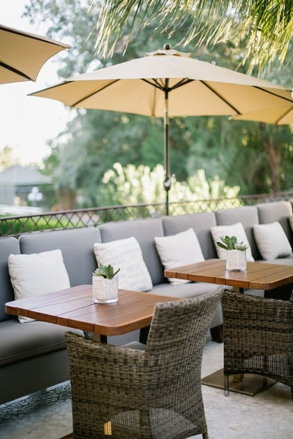 Outdoor Dining | Two Bunch Palms Spa Resort - Adults Only