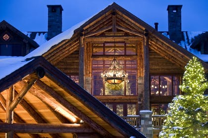 Hotel Front - Evening/Night | The Whiteface Lodge