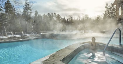 Indoor/Outdoor Pool | The Whiteface Lodge
