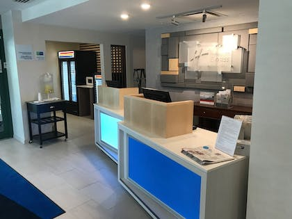 Check-in/Check-out Kiosk | Holiday Inn Express Hotel & Suites Rochester - Victor