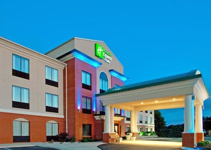 Hotel Front - Evening/Night   Holiday Inn Express Hotel & Suites DuBois