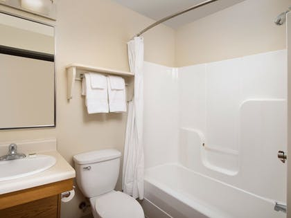 Bathroom | WoodSpring Suites Wichita Airport