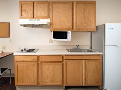 In-Room Kitchen | WoodSpring Suites Fort Worth Fossil Creek