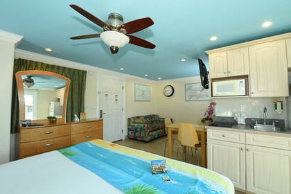 | Deluxe Efficiency Suite: 1 Queen Bed and 1 Sleeper Sofa | Bay Palms Waterfront Resort - Hotel and Marina