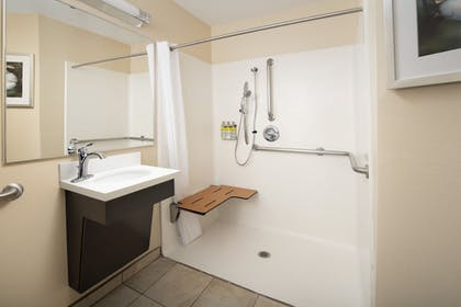 Bathroom | Candlewood Suites I-26 at Northwoods Mall