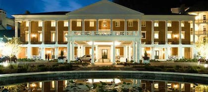 Hotel Front - Evening/Night | Omni Bedford Springs Resort