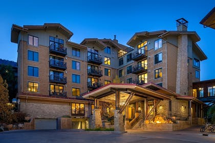 Hotel Front - Evening/Night | Hotel Terra Jackson Hole - A Noble House Resort