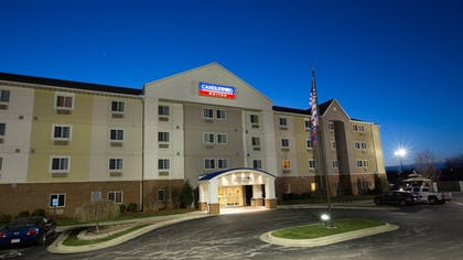 Hotel Front - Evening/Night | Candlewood Suites South - Springfield