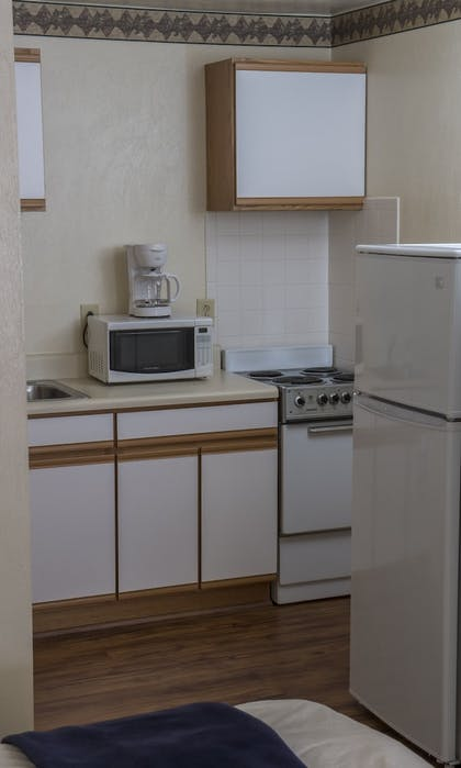 In-Room Kitchenette | Affordable Corporate Suites - Lanford