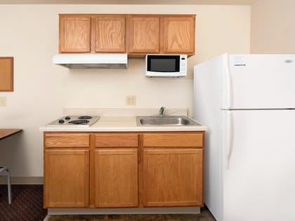 In-Room Kitchen | WoodSpring Suites Indianapolis Lawrence
