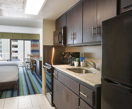In-Room Kitchenette | Captain's Quarters Resort