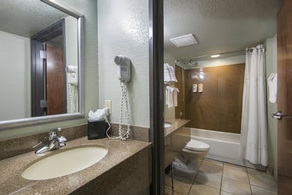 Bathroom | Markham House Suites - Little Rock Medical Center