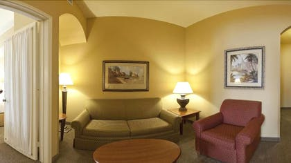 Living Room | Holiday Inn Express Hotel & Suites DFW West - Hurst