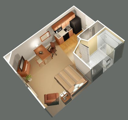 Floor plan | Candlewood Suites Indianapolis - South