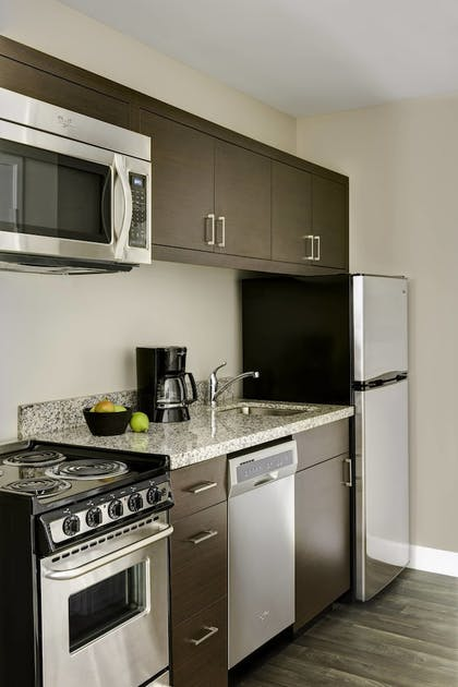 In-Room Kitchen | TownePlace Suites by Marriott Cleveland