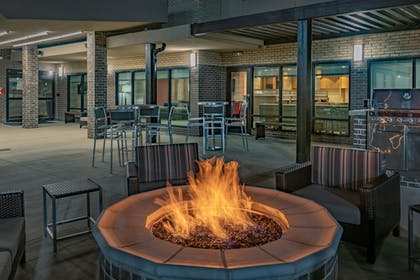 Fireplace | TownePlace Suites by Marriott Dallas Mesquite