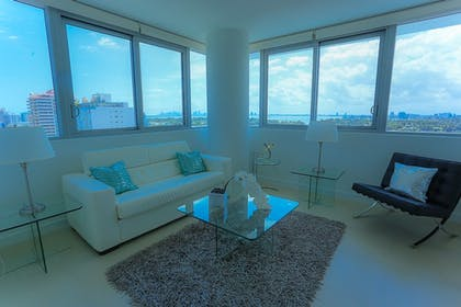 Living Room | Suite Life Miami at The Monte Carlo