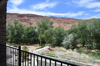 Balcony View | MainStay Suites Moab near Arches National Park