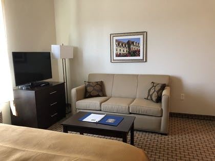 Living Room | MainStay Suites St. Louis - Airport