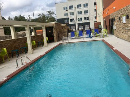 Outdoor Pool | Home2 Suites by Hilton Lake Charles