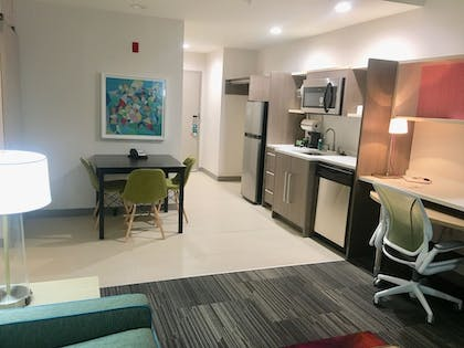 Living Area | Home2 Suites by Hilton Lake Charles