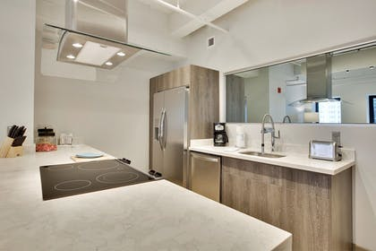 In-Room Kitchen | Living by BridgeStreet at Town Place
