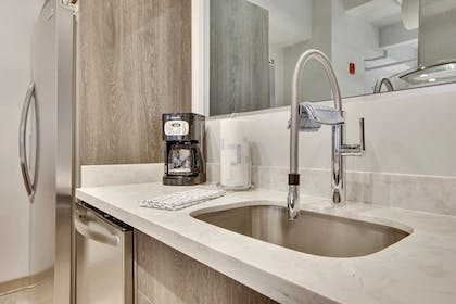In-Room Kitchenette | Living by BridgeStreet at Town Place