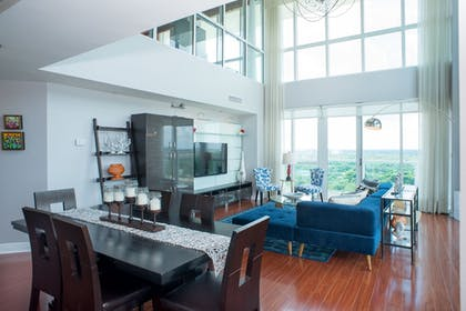 Living Room | MIA Luxe Properties at Mutiny Park Condominium-Hotel